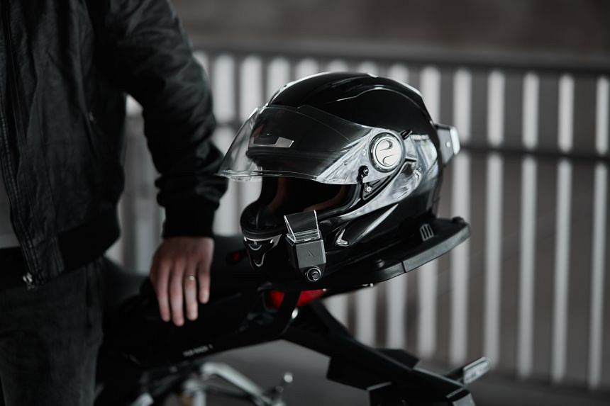 Argon Transform, which can be fitted to most helmets, has been touted as the world's first dual-camera smart helmet attachment. It consists of a rear-view camera, a front dash-cam with a heads-up display attachment and a handlebar remote control.