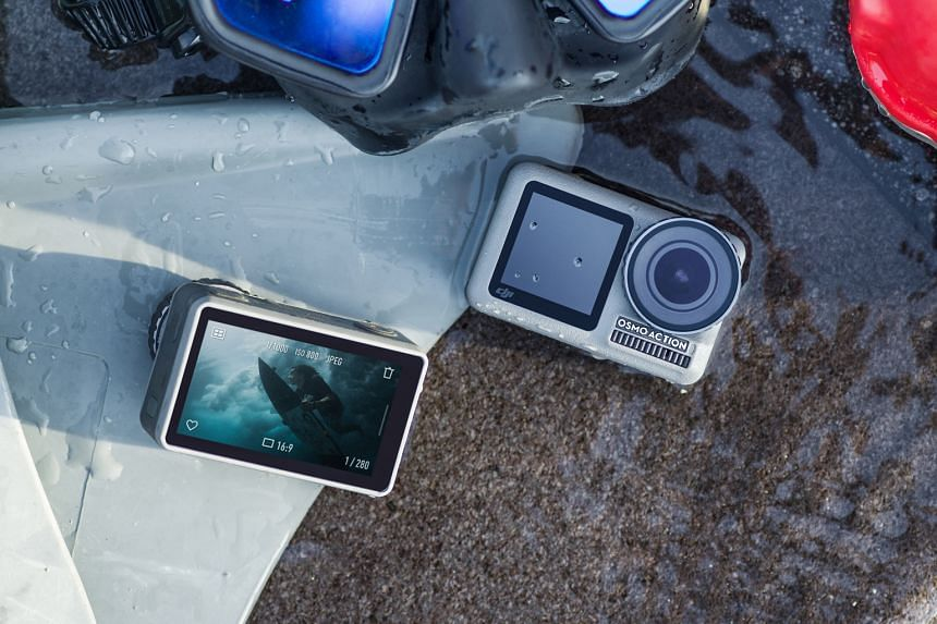The DJI Osmo Action Camera feels solid and sturdy with its metallic frame and rubberised top and sides.