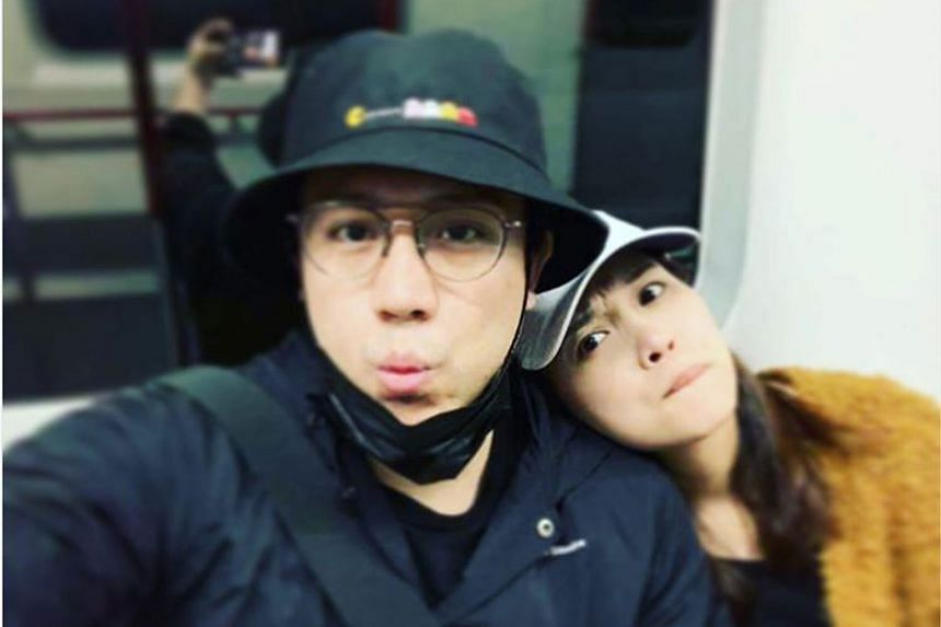 Singer Steven Cheung revealed online that he was going to marry a fan called Au Man-man (both above), which shocked long-time girlfriend April Leung.