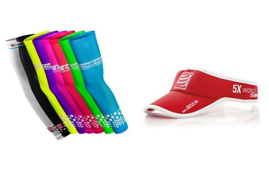 Those who register by Sunday at the carnival stand to receive either a pair of arm sleeves (worth $59) or the visor (worth $29.90) while stocks last.