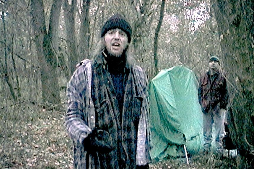 The Blair Witch Project starred Joshua Leonard (far left) and Michael Williams.