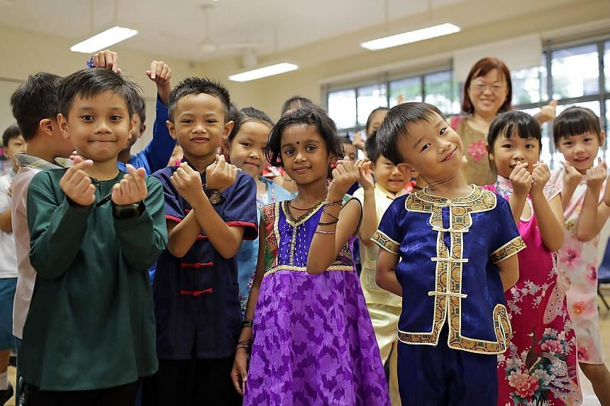 Students from Westwood Primary School, dressed in multiracial costumes, celebrating Racial Harmony Day on July 22. There is substantial need for a review of the Maintenance of Religious Harmony Act (MRHA), given the crucial role it plays in the natio