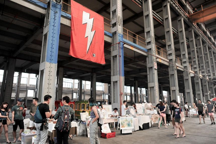 """Market organiser The Local People has been known to set up in what the group calls """"disused places"""", such as the Singapore Land Authority Power Station Art Market in August 2018."""