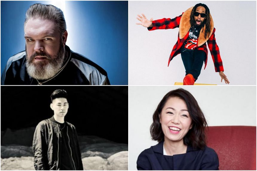 (Clockwise from top left) DJ Kristian Nairn, rapper Lil Jon, singer Joanna Dong and DJ-producer Nosaj Thing.