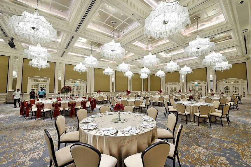 The Jubilee Theatre was turned into a ballroom that can seat 300 guests.