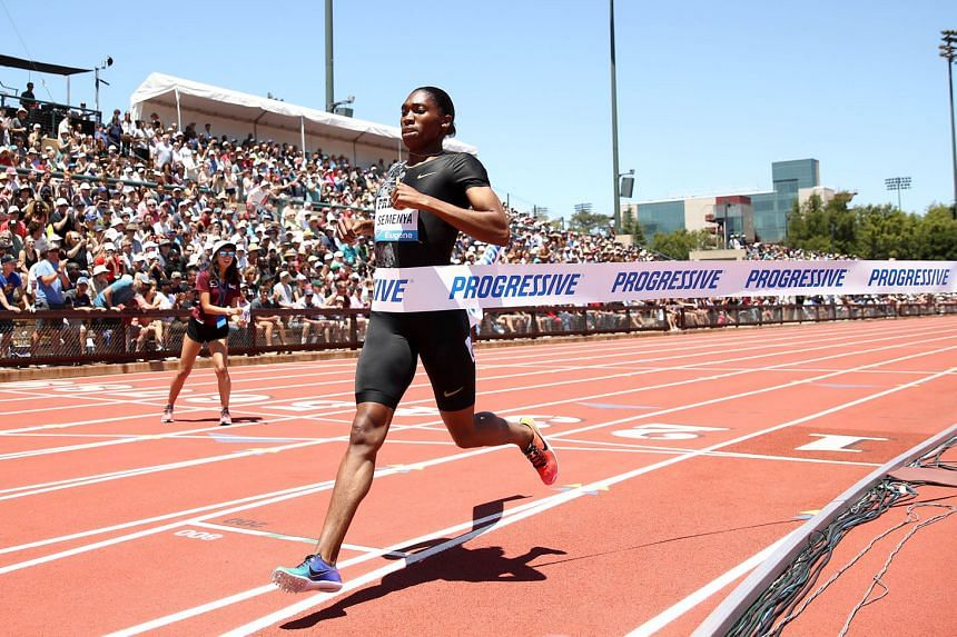 Caster Semenya easily winning the 800m in 1min 55.70sec at the Prefontaine Classic Diamond League meet in California on June 30. PHOTO: AGENCE FRANCE-PRESSE