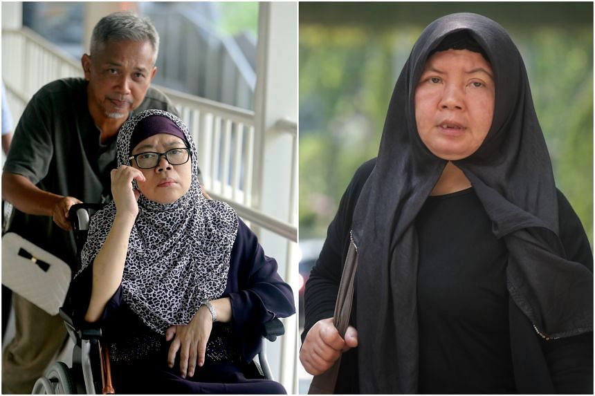 Zariah Mohd Ali was sentenced to 11 years' jail while her husband Mohamad Dahlan was sentenced to 15 months' jail for his role in the abuse. Indonesian domestic worker Khanifah (right) suffered permanent disfiguration after the abuse.