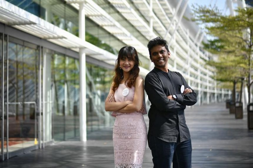 Scholarship recipients Farren Tang (left), and Nishok were among more than 1,000 applicants for the Singapore Digital Scholarship.