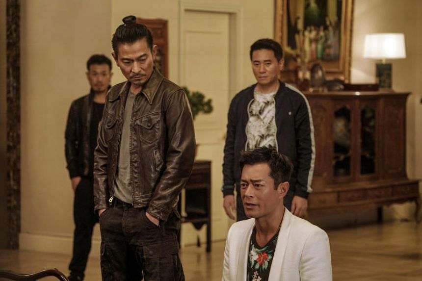 The story of two men on opposite sides of the law in Hong Kong, starring Andy Lau (left), Louis Koo (right), Karena Lam and Michael Miu, has been the highest-earning Asian film for the last three weekends.