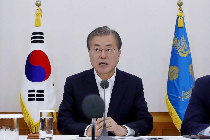 President Moon Jae-in will chair an unscheduled Cabinet meeting later on Aug 2 to discuss the issue, according to Mr Moon's office.