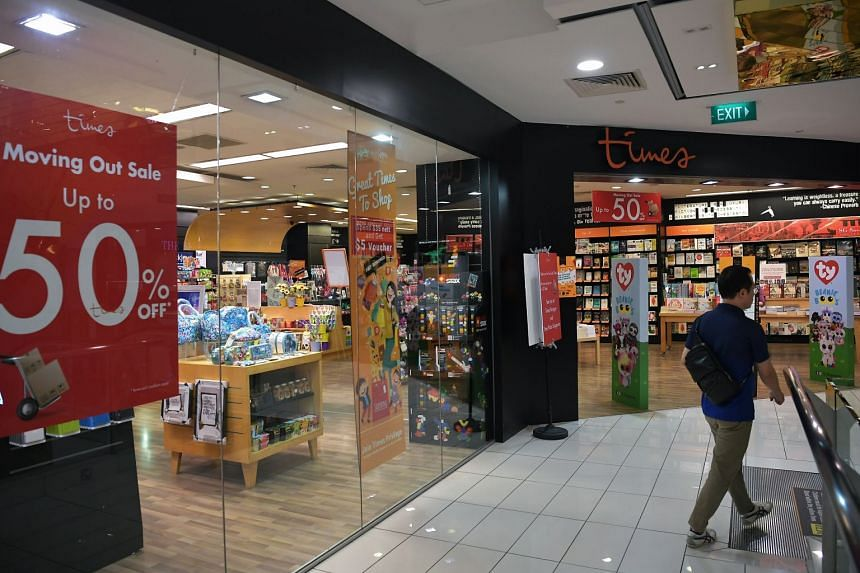 Times book store at Centrepoint is closing down by the end of 2019.