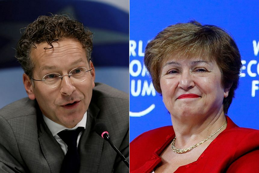 Dutchman Jeroen Dijsselbloem and Bulgaria's Kristalina Georgieva are the only two candidates left to lead the International Monetary Fund, after three candidates pulled out of the race.