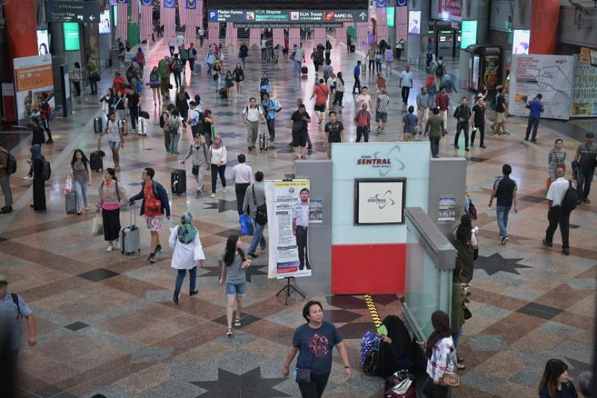 Two bomb threats were put out on social media warning that an explosive would go off at KL Sentral transport hub (above) and the Russian embassy.