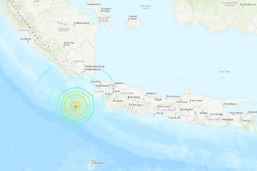 The quake had hit at a depth of 59km, about 227km from the city of Teluk Betung on the island of Sumatra.