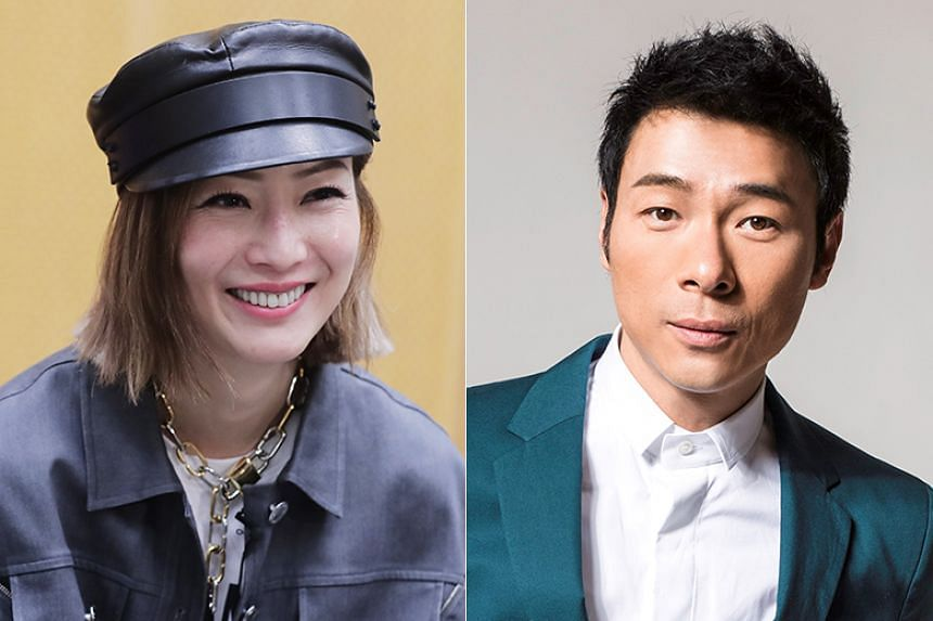 Sammi Cheng and her husband Andy Hui were spotted in Britain by a reader of Hong Kong newspaper Apple Daily.
