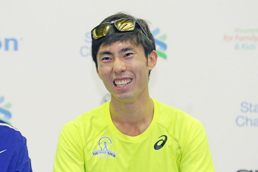 Soh Rui Yong at the Standard Chartered Singapore Marathon 2018 press conference.