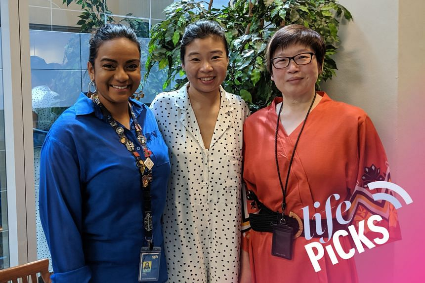 Life Picks host Melissa Sim (centre) chats with colleagues Anjali Raguraman (left) and Tan Hsueh Yun (right) about the best things to do in Singapore from Aug 1-15.