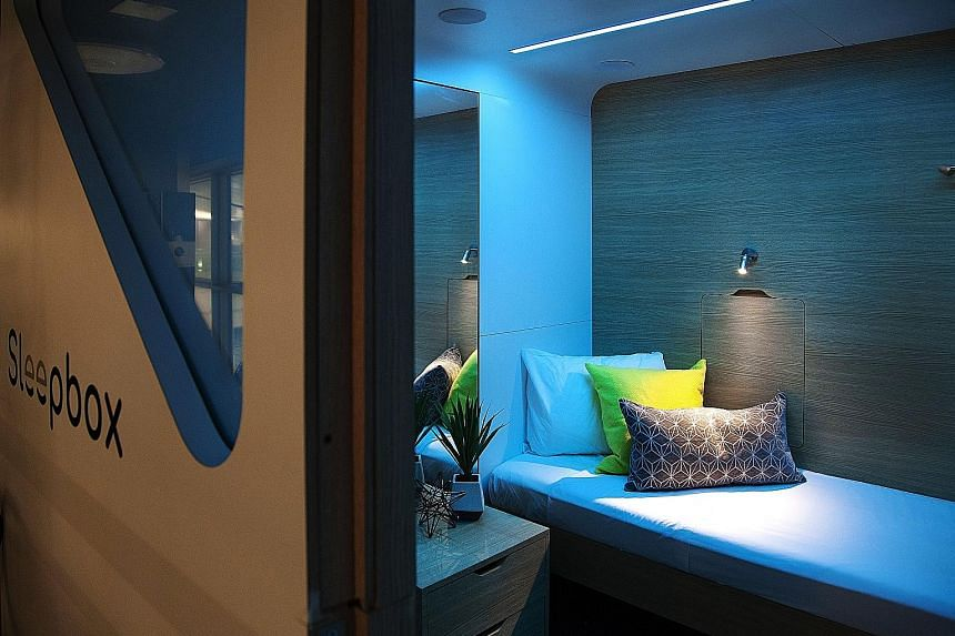 A room from microhotel Sleepbox.