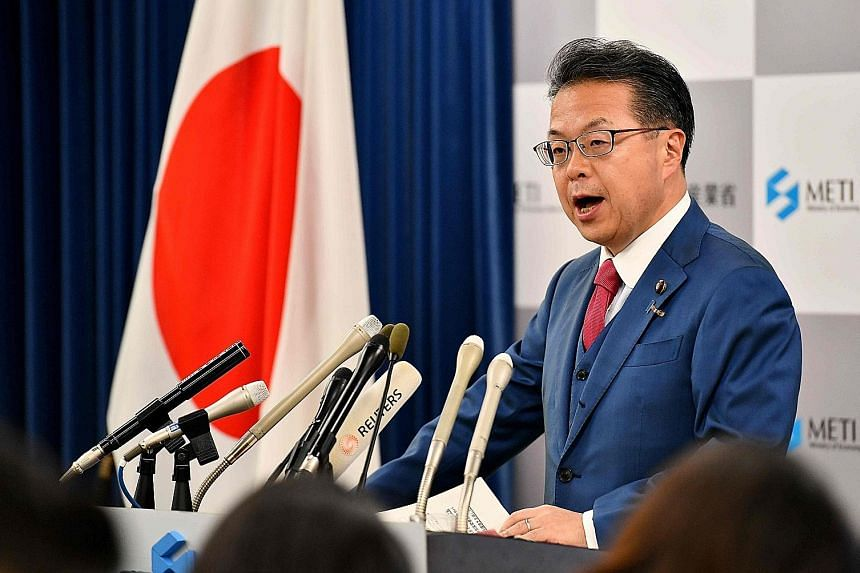 "Japan's Trade Minister Hiroshige Seko said the country's measure was ""not intended to hurt bilateral ties"" with South Korea."