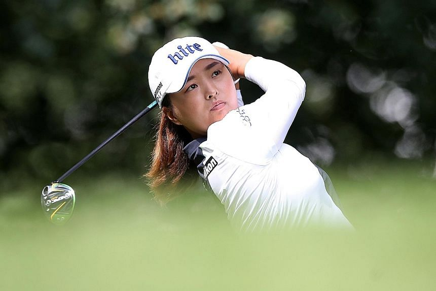South Korea's Ko Jin-young during the second round of the Women's British Open. After rounds of 68 and 70, she was on six-under 138.