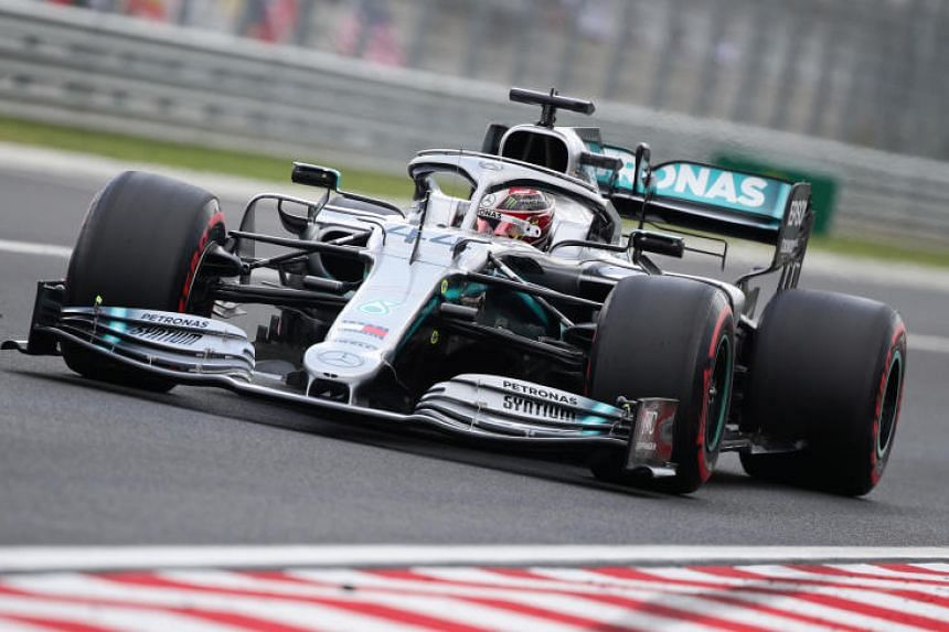 Mercedes' Lewis Hamilton, much recovered from the virus that had hit him at last weekend's Germany Grand Prix, moved top in 1min 16.084sec.