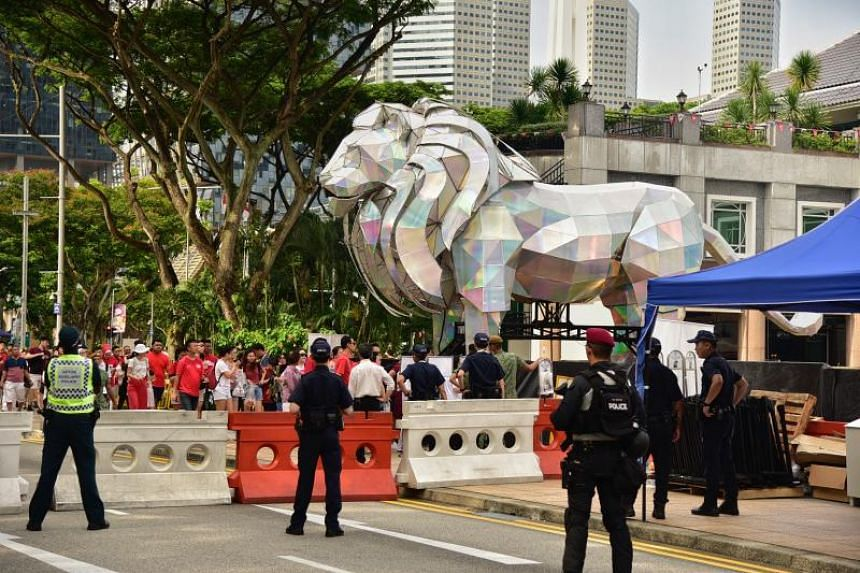 There will be around 5,600 people involved in safety and security measures for this year's National Day Parade at the Padang.