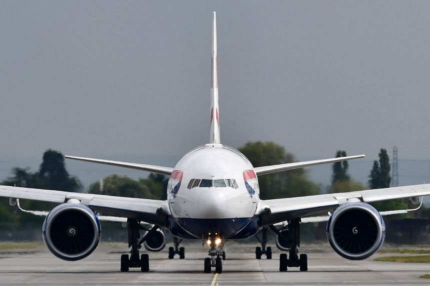 A British Airways passenger jet is pictured at London Heathrow Airport.
