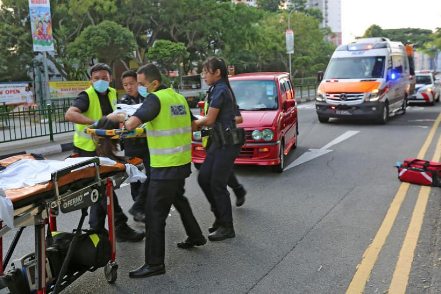 The police were alerted to an accident involving a car and a pedestrian in Lorong 7 Toa Payoh at about 7.30am on Aug 3, 2019.