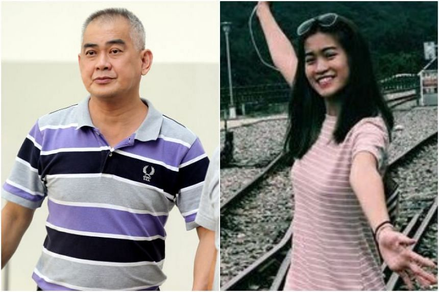 Cabby Yap Kok Hua (left) caused the death of one of his passengers, Ms Kathy Ong Kai Ting (right). He had made a discretionary right turn despite seeing an oncoming vehicle.