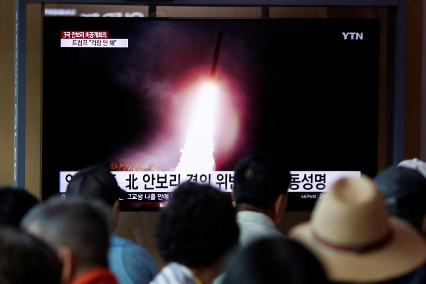 Experts say the North's increased testing activity is aimed at ramping up pressure on Washington and Seoul over stalled nuclear negotiations with the United States and planned US-South Korea military exercises.
