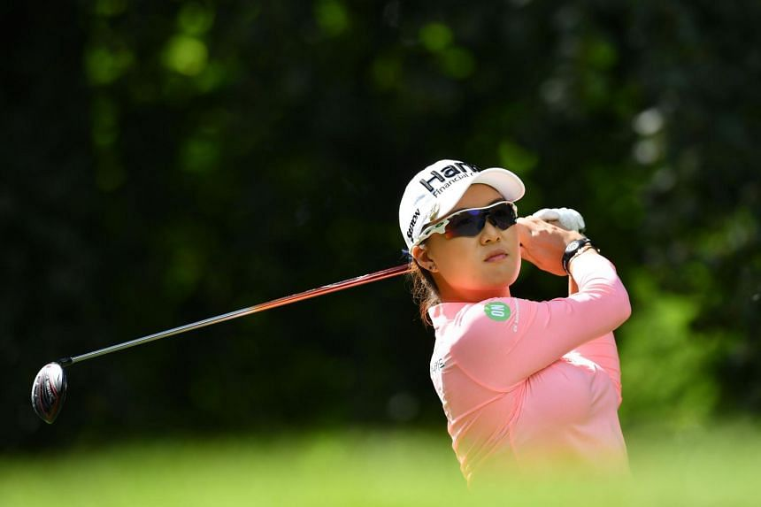 Australia's Minjee Lee at the 2019 Women's British Open golf championship at Woburn Golf Club, in Milton Keynes, north of London, on August 2, 2019.