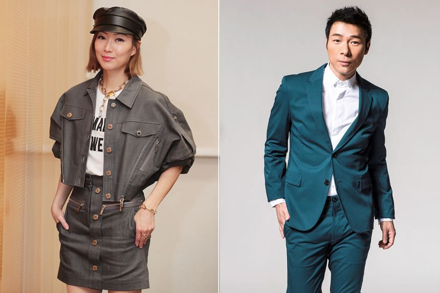 Hong Kong married celebrity couple Sammi Cheng and Andy Hui were seen together in Britain on Thursday.