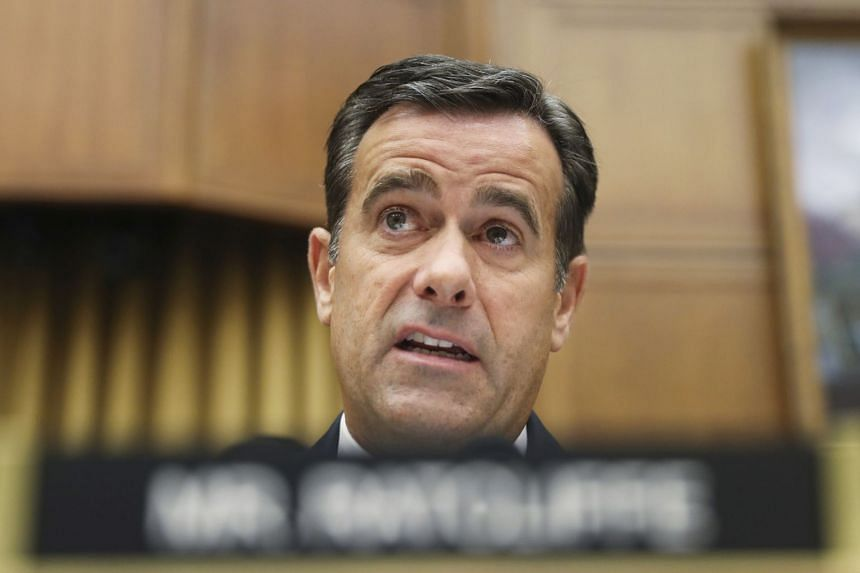 Trump blamed unflattering news coverage for fellow Republican Ratcliffe's (above) decision to bow out.