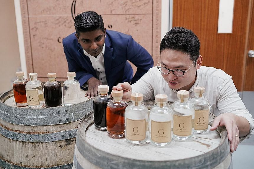 Compendium, which produces rojak and chendol gin, is run by founder and master distiller Simon Zhao and brand ambassador Vegneswaran Ram (both above).
