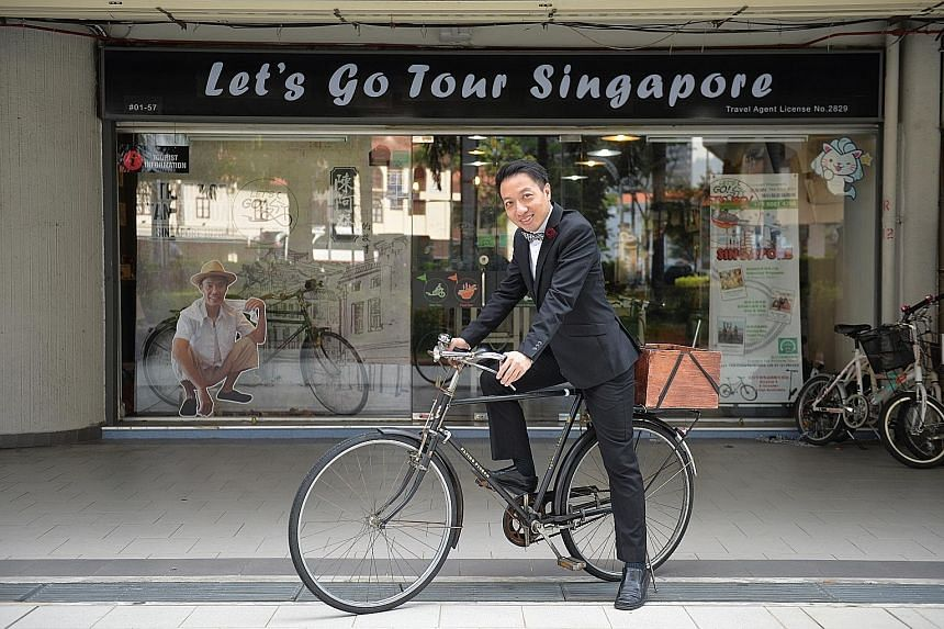 Mr Daniel Tan, founder of Let's Go Tour Singapore, and an insurance agency manager with Great Eastern Financial Advisers, set up a family charitable trust that will receive all his assets and those of his wife after they are gone. ST PHOTO: SHINTARO