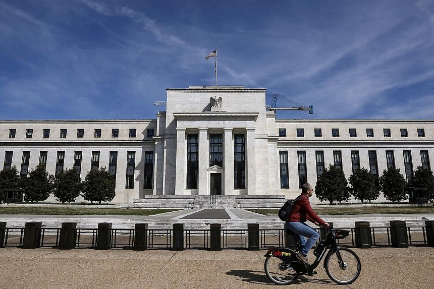 The Federal Reserve Board building on Constitution Avenue in Washington. Despite what the Fed views to be a favourable outlook for the US economy, it is cautious of the growth risks posed by global trade uncertainties.