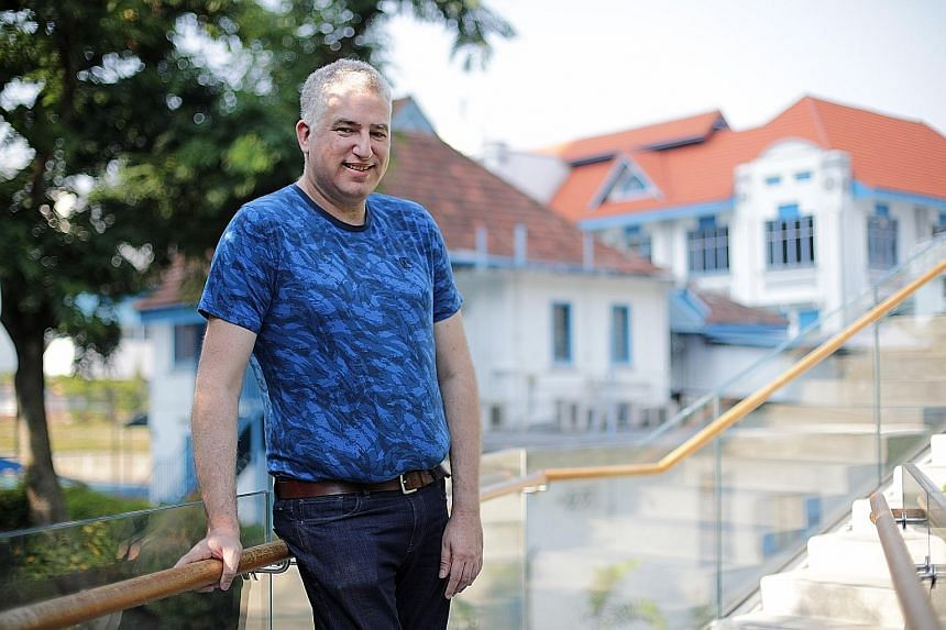 """Israel-born Dr Ori Sasson recalled being told by a civil society activist at a closed-door dialogue in 2012: """"We don't want you here."""" Left: As it was """"uncool"""" to be from China, Mr Ou Ningfei """"over-compensated"""" by going out of his way to do well in E"""