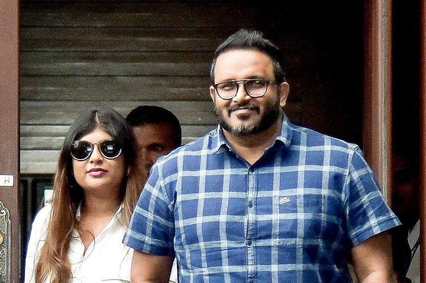 Jailed former Maldives vice-president Ahmed Adeeb at Velana International Airport with his wife Mariyam Nashwa after returning to the country on July 6, 2019.