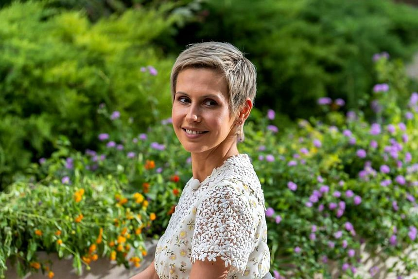 Asma al-Assad posing for a picture posted on the Syrian presidency Facebook page.