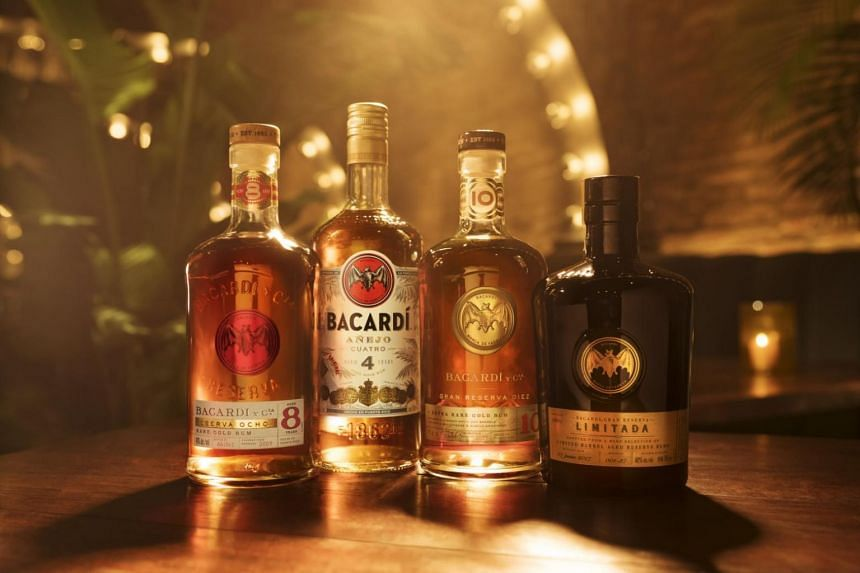 Singapore is the first country in Southeast Asia to have Bacardi's Premium Portfolio (from left) Reserva Ocho (8 years), Añejo Cuatro (4 years), Gran Reserva Diez (10 years) and Gran Reserva Limitada (12 years).