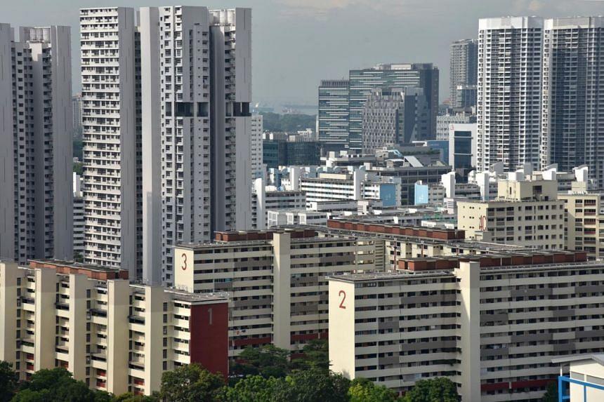 Housing and Development Board (HDB) flats taken from Blk 19 Jalan Tenteram.
