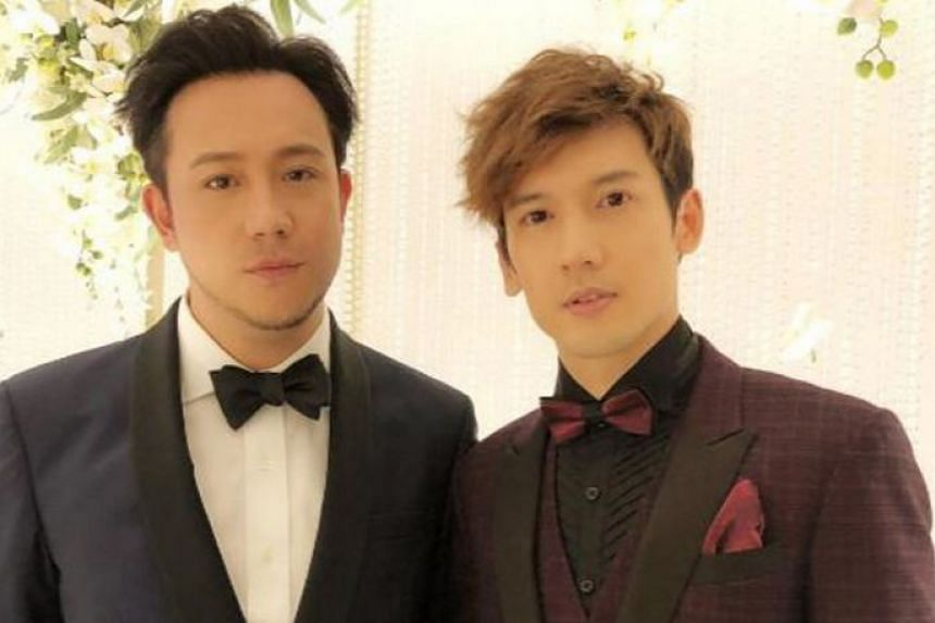 Kenny Kwan (right) of Boyz will perform at the Hong Kong Coliseum next month without the other half of the duo, Steven Cheung (left), who has been slammed by netizens over his womanising ways.