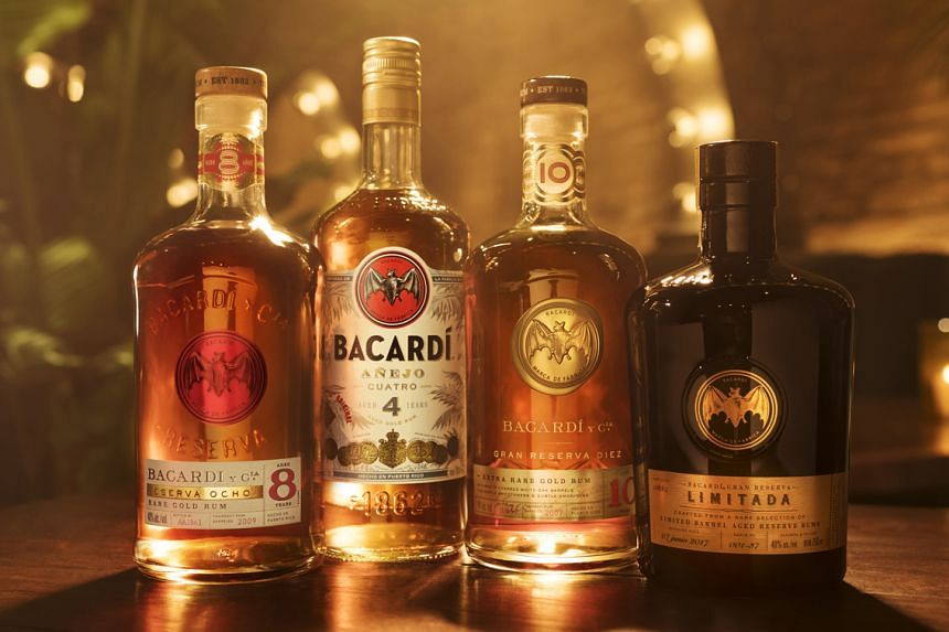 Singapore is the first country in South-east Asia to have Bacardi's premium portfolio of rums, such as the (from left) Reserva Ocho, Anejo Cuatro, Gran Reserva Diez and Gran Reserva Limitada.