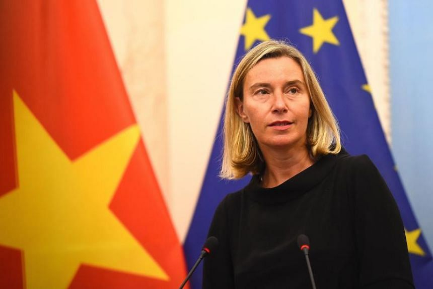 The European Union's foreign policy chief Federica Mogherini said the bloc was concerned over increasing tension in the area.