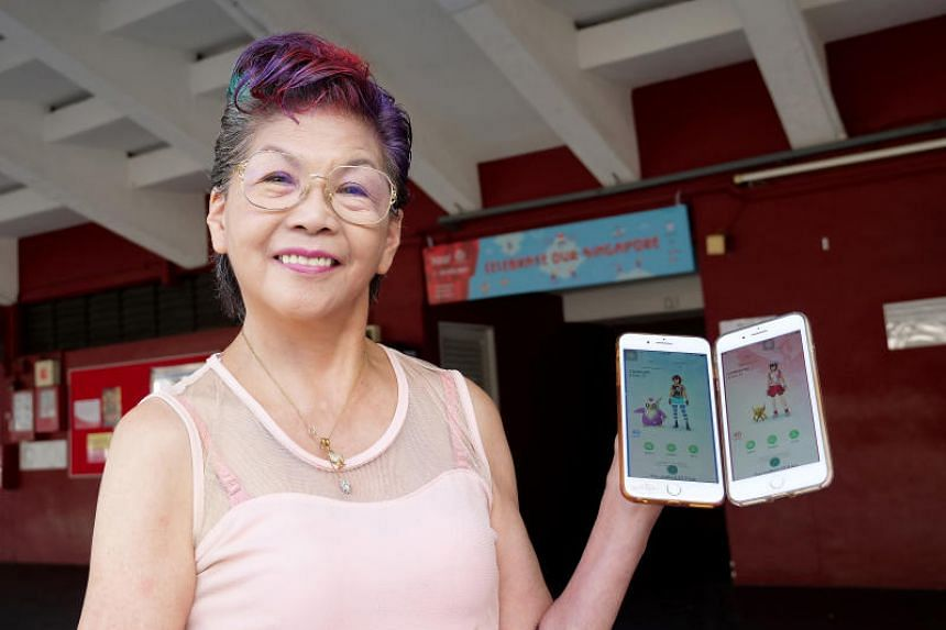 Madam Connie Po, a 70-year-old grandmother of three, regularly walks around her Tiong Bahru home estate to catch Pokemon.