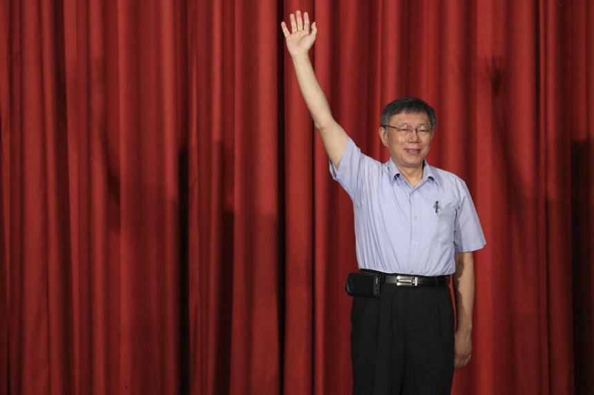 """Taipei Mayor Ko Wen-je says he wants to change Taiwan's political culture and offer people """"another choice"""" besides the ruling Democratic Progressive Party and the main opposition Kuomintang."""