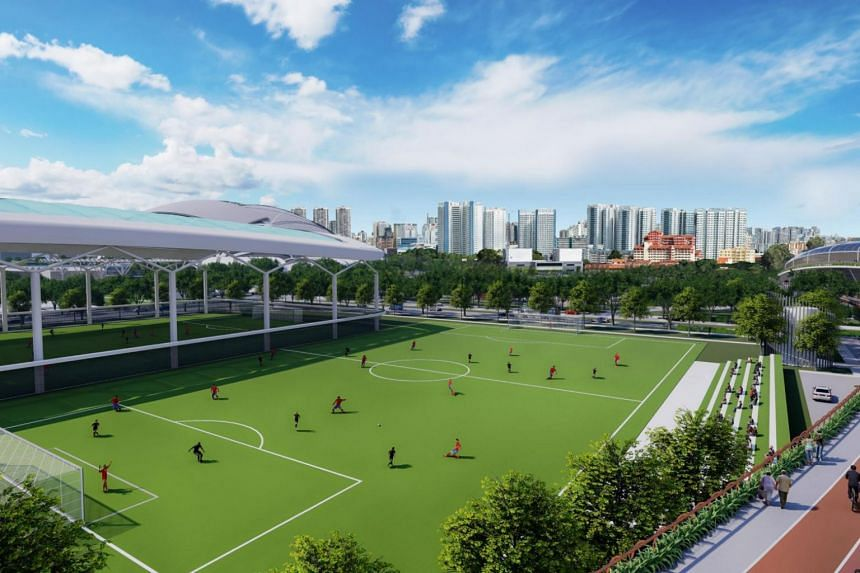 File photo of an artist's impression of the Kallang Football Hub.