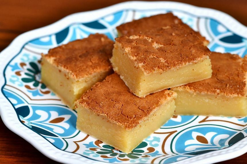 Hawaiian Butter Mochi Cake is not as dense as kueh bingka ubi, nor is it as airy as kueh ambon, with its honeycomb interior.