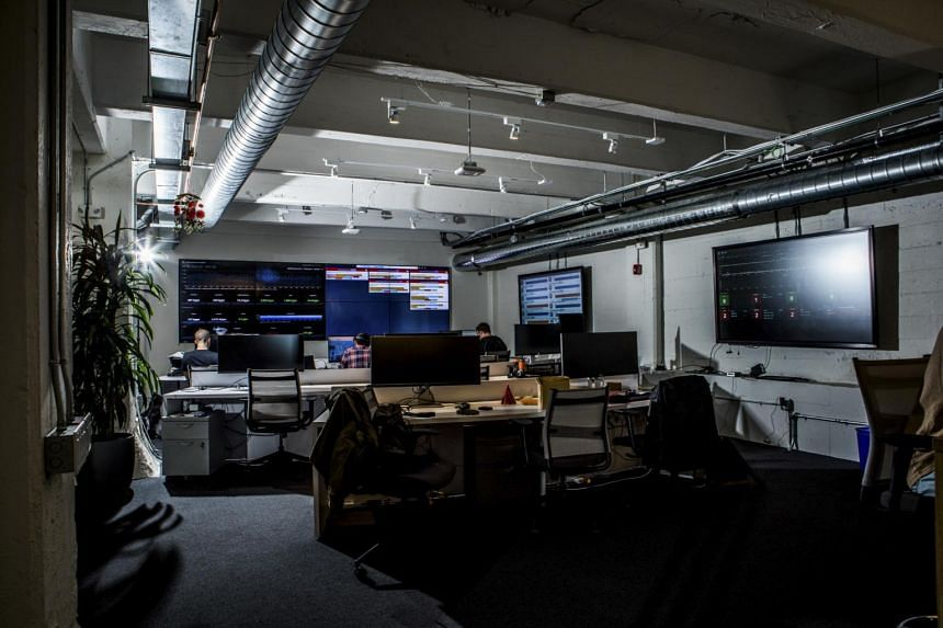 File photo of Cloudflare's network operations centre in San Francisco, on May 2017.