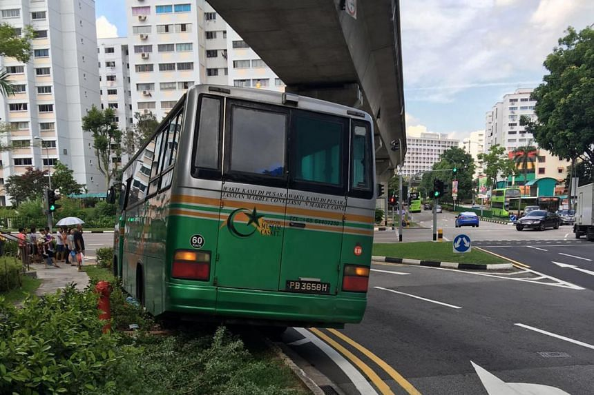 The bus from Singapore Muslim Casket and Marble Contractor hit Madam Ong Lim in Bukit Panjang in September 2016. A mechanic found that its handbrake had to be pulled up for nine clicks to be effective, three or four more than normal.